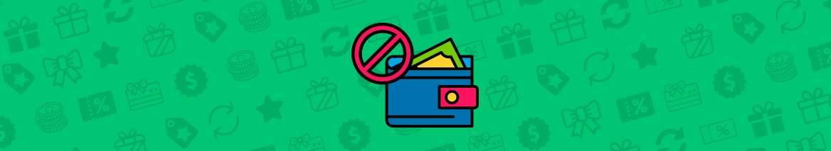 animerad plånbok med grön bakgrund
