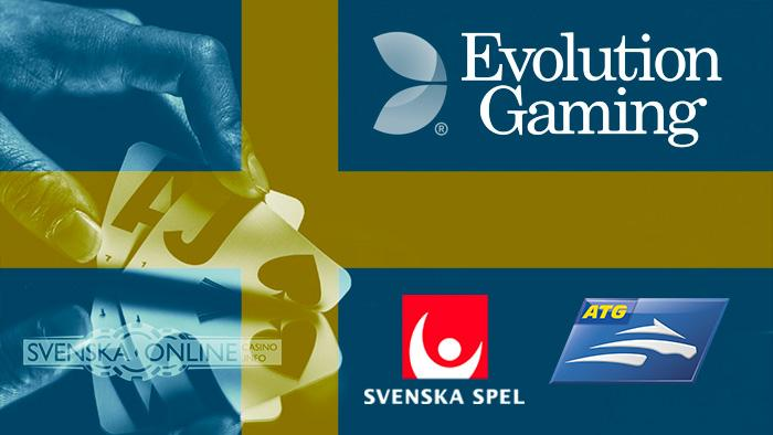 svensk flagga evolution gaming ATG Svenska Spel