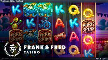 respin circus Frank & Fred casino