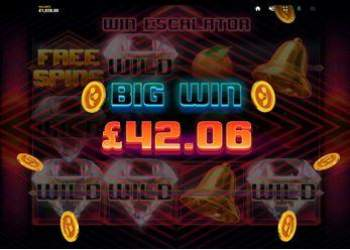 Win escalator big win £42,06