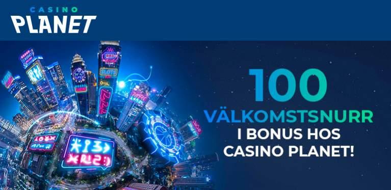 Casino Planet 100 välkomstsnurr