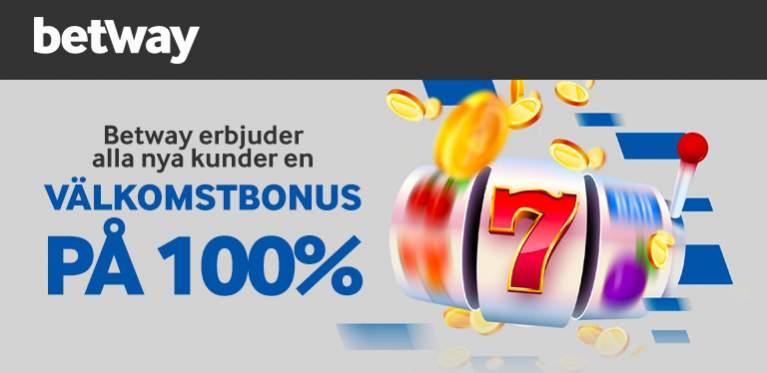 Betway erbjuder alla nya kunder en välkomstbonus på 100%